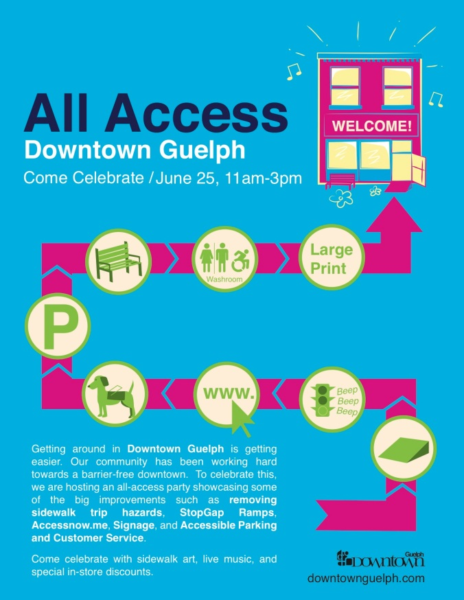 All Access Downtown Guelph - Poster
